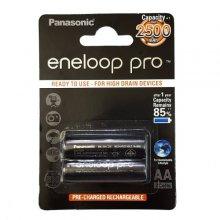 باتری قلمی قابل شارژ Panasonic مدل Eneloop Pro BK-3HCDE بسته ۲ عددی