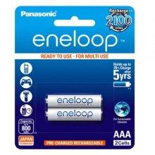 باتری نیم قلمی قابل شارژ Panasonic مدل eneloop بسته ۲ عددی
