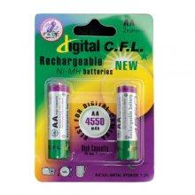 باتری قلمی قابل شارژ C.F.L مدل ۴۵۵۰ AA بسته ۲ عددی